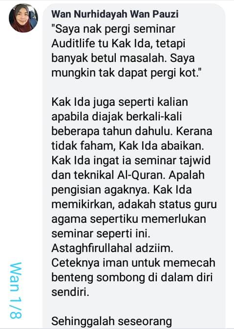 Feedback Puan Hidayah 1